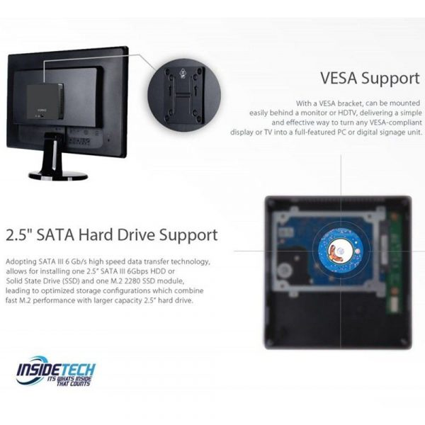 Intel i7 10th Gen Mini PC NUC Desktop Computer (Triple Display Supported)