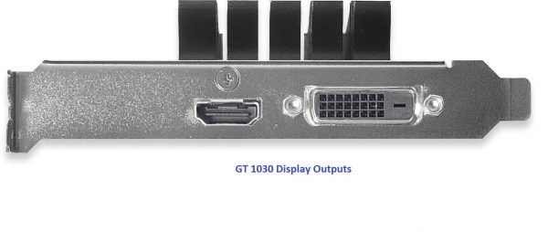 GT1030 Display Outputs
