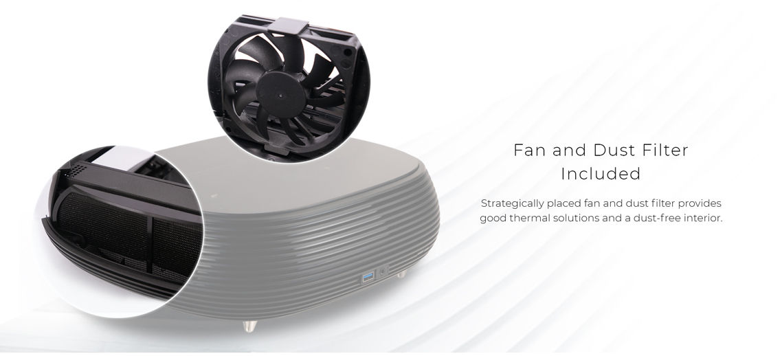 Fan & Dust Filter Included