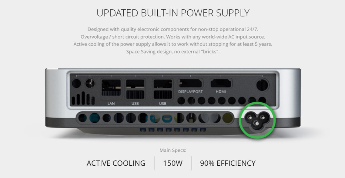 Updated Built-In Power Supply