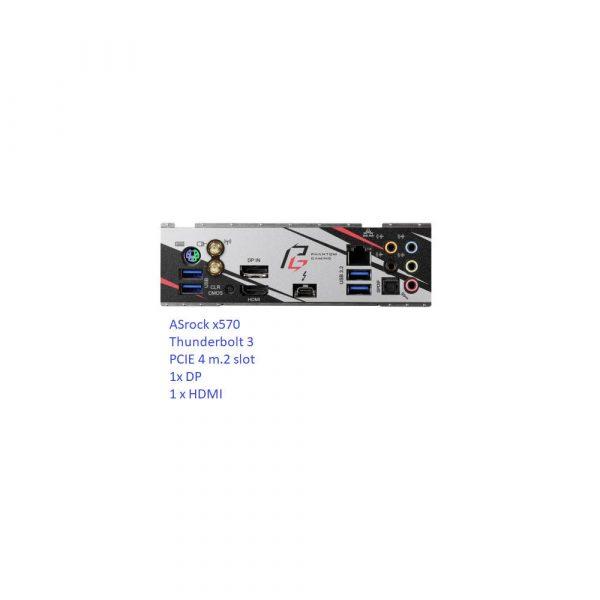 V8 Water Cooled Mini Itx Gaming Pc Amd 2nd/3rd Gen Ryzen Pro Gamer