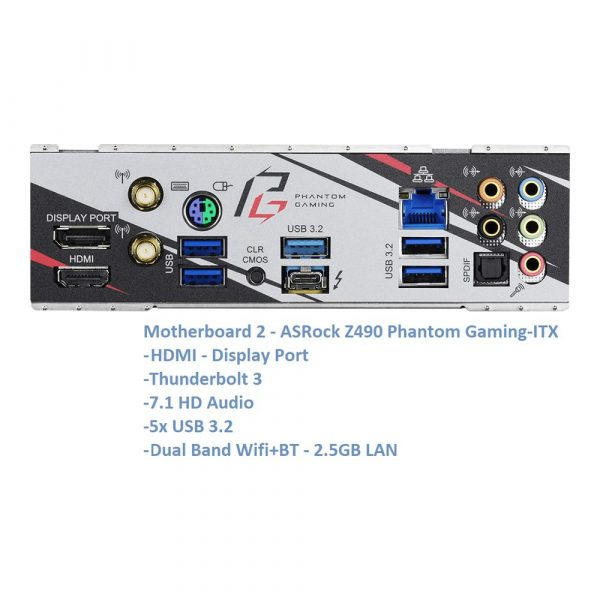 Water Cooled 10th Gen Intel Mini ITX Gaming PC RTX 3080