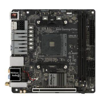 Asrock B450 GAMING-ITX/AC, AMD B450, AM4, Mini ITX, 2 DDR4, HDMI, DP, Wi-Fi, RGB Lighting, M.2