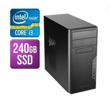 Spire Tower PC, Antec VSK3000B, i3-10100F, 8GB, 240GB SSD, Asus GT710, Corsair 450W, DVDRW, KB & Mouse, No Operating System