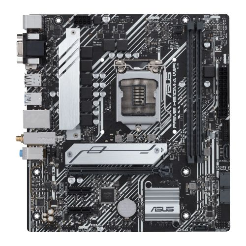 Asus PRIME H510M-A WIFI, Intel H510, 1200, Micro ATX, 2 DDR4, VGA, HDMI, DP, AC Wi-Fi, RGB, M.2