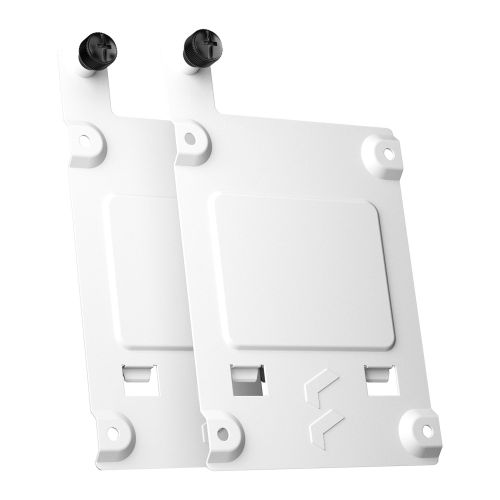 """Fractal Design SSD Tray Kit - Type-B (2-pack), White, 2x 2.5"""" SSD Brackets - For Fractal Design cases with Type-B SSD mounts only"""