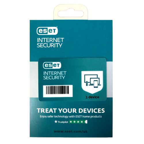ESET Internet Security Retail Box 10 Pack – 10 x 1 Device Licences  - 1 Year - PC, Mac, Linux & Android