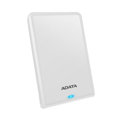 "ADATA 1TB HV620S Slim External Hard Drive, 2.5"", USB 3.2, 11.5mm Thick, White"