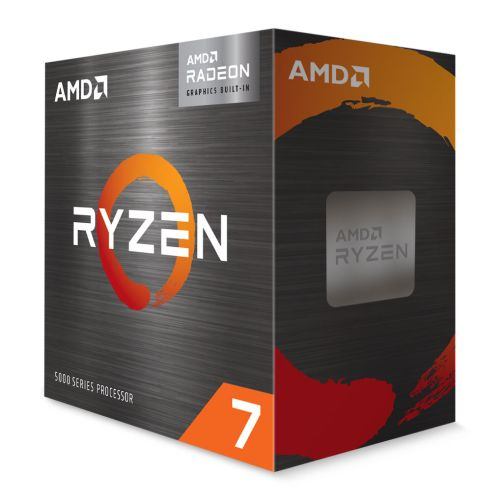 AMD Ryzen 7 5700G with Wraith Stealth Cooler, AM4, 3.8GHz (4.6 Turbo), 8-Core, 65W, 20MB Cache, 7nm, 5th Gen, Radeon Graphics