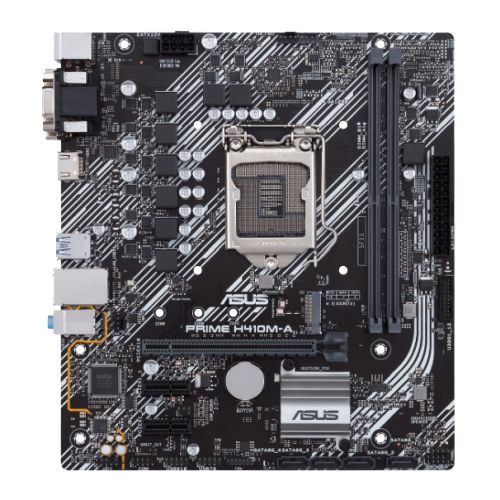 Asus PRIME H410M-A, Intel H410, 1200, Micro ATX, 2 DDR4, VGA, DVI, HDMI, M.2