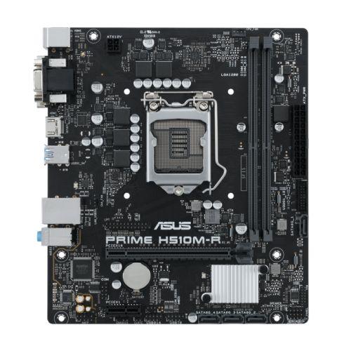 Asus PRIME H510M-R SI, Intel H510, 1200, Micro ATX, 2 DIMM, DVI, HDMI, 2 USB 3.2 *WHITE BOX*